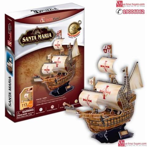 Xếp hình 3D - Tàu Santa Maria T4008h