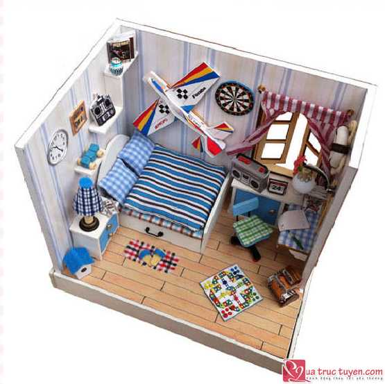Mo hinh nha DIY Dream Plane BedRoom4