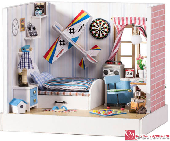 Mo hinh nha DIY Dream Plane BedRoom5